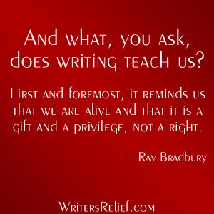 writingTeachesUsBradbury